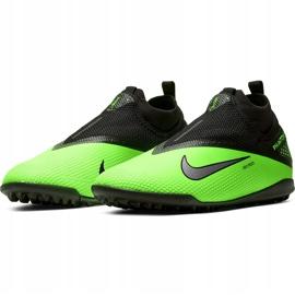 Buty piłkarskie Nike React Phantom Vsn 2 Pro Df Tf CD4174 036 zielone wielokolorowe 3