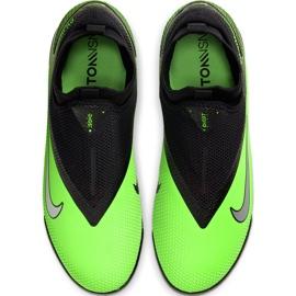 Buty piłkarskie Nike React Phantom Vsn 2 Pro Df Tf CD4174 036 zielone wielokolorowe 1
