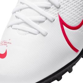 Buty piłkarskie Nike Mercurial Superfly 7 Academy Tf Jr AT8143 160 białe wielokolorowe 4