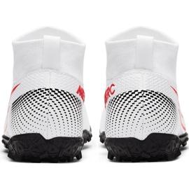 Buty piłkarskie Nike Mercurial Superfly 7 Academy Tf Jr AT8143 160 białe wielokolorowe 6