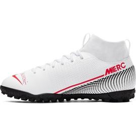 Buty piłkarskie Nike Mercurial Superfly 7 Academy Tf Jr AT8143 160 białe wielokolorowe 2
