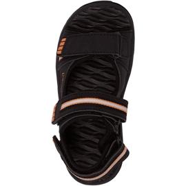 Sandały dla dzieci Kappa Symi T Footwear czarno-pomarańczowe 260685T 1144 czarne 1