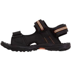 Sandały dla dzieci Kappa Symi T Footwear czarno-pomarańczowe 260685T 1144 czarne 2