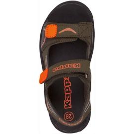 Sandały dla dzieci Kappa Pure T Footwear zielono-pomarańczowe 260594T 3144 zielone 1