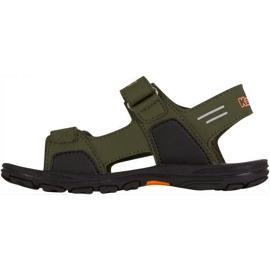 Sandały dla dzieci Kappa Pure T Footwear zielono-pomarańczowe 260594T 3144 zielone 2