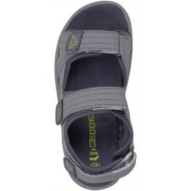 Sandały dla dzieci Kappa Early Ii K Footwear Kids szaro-limonkowe 260373K 1633 szare 1