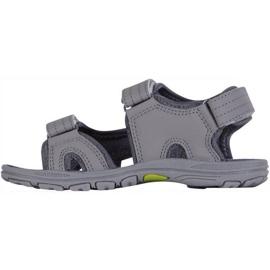 Sandały dla dzieci Kappa Early Ii K Footwear Kids szaro-limonkowe 260373K 1633 szare 2