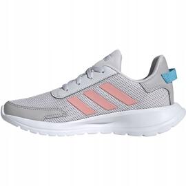 Buty dla dzieci adidas Tensaur Run K szaro-różowe EG4132 2