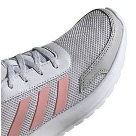 Buty dla dzieci adidas Tensaur Run K szaro-różowe EG4132 3