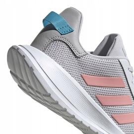 Buty dla dzieci adidas Tensaur Run K szaro-różowe EG4132 5