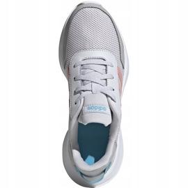 Buty dla dzieci adidas Tensaur Run K szaro-różowe EG4132 1