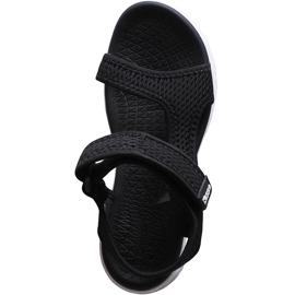 Sandały damskie Kappa Vedity Ii czarno-białe 242811 1110 czarne 1