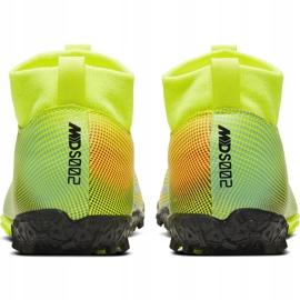 Buty piłkarskie Nike Mercurial Superfly 7 Academy Mds Tf Junior BQ5407 703 żółte wielokolorowe 4
