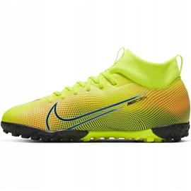 Buty piłkarskie Nike Mercurial Superfly 7 Academy Mds Tf Junior BQ5407 703 żółte wielokolorowe 2