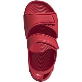 Sandały dla dzieci adidas Altaswim C czerwone EG2136 1