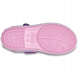 Crocs sandały dla dzieci Crocband Sandal Kids jasnoróżowo-fioletowe 12856 6AI różowe 5