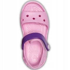 Crocs sandały dla dzieci Crocband Sandal Kids jasnoróżowo-fioletowe 12856 6AI różowe 1