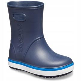 Crocs kalosze dla dzieci Crocband Rain Boot Kids granatowe 205827 4KB 2