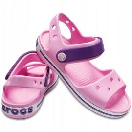 Crocs sandały dla dzieci Crocband Sandal Kids jasnoróżowo-fioletowe 12856 6AI różowe 2