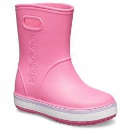 Crocs kalosze dla dzieci Crocband Rain Boot Kids różowe 205827 6QM 2