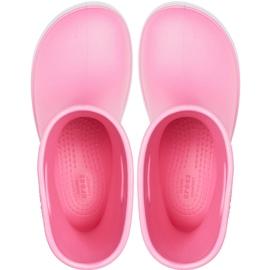 Crocs kalosze dla dzieci Crocband Rain Boot Kids różowe 205827 6QM 1