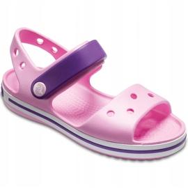 Crocs sandały dla dzieci Crocband Sandal Kids jasnoróżowo-fioletowe 12856 6AI różowe 3