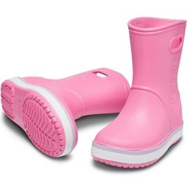 Crocs kalosze dla dzieci Crocband Rain Boot Kids różowe 205827 6QM 3