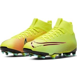 Buty piłkarskie Nike Mercurial Superfly 7 Academy Mds FG/MG Junior BQ5409 703 żółte żółte 3