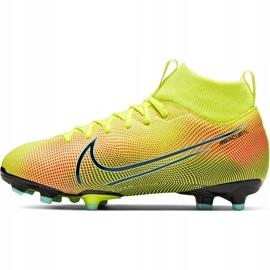 Buty piłkarskie Nike Mercurial Superfly 7 Academy Mds FG/MG Junior BQ5409 703 żółte żółte 2