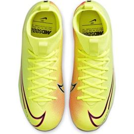 Buty piłkarskie Nike Mercurial Superfly 7 Academy Mds FG/MG Junior BQ5409 703 żółte żółte 1