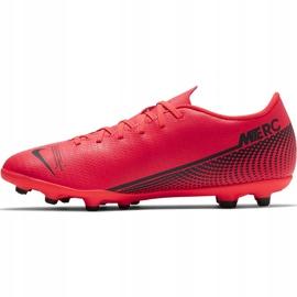 Buty piłkarskie Nike Mercurial Vapor 13 Club FG/MG AT7968 606 czerwone wielokolorowe 2