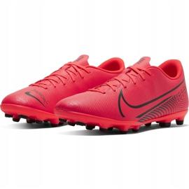 Buty piłkarskie Nike Mercurial Vapor 13 Club FG/MG AT7968 606 czerwone wielokolorowe 3