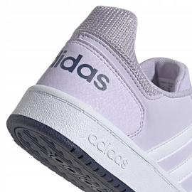 Buty dla dzieci adidas Hoops 2.0 K jasnofioletowe EG9075 4