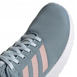 Buty damskie adidas Lite Racer Cln szaro-różowe EG3148 szare 3