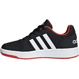 Buty dla dzieci adidas Hoops 2.0 K czarno-czerwone B76067 białe czarne 2