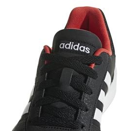 Buty dla dzieci adidas Hoops 2.0 K czarno-czerwone B76067 białe czarne 3