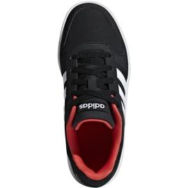 Buty dla dzieci adidas Hoops 2.0 K czarno-czerwone B76067 białe czarne 1