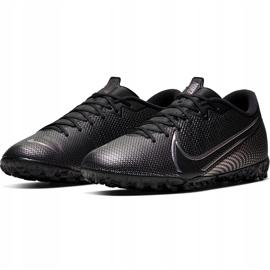 Buty piłkarskie Nike Mercurial Vapor 13 Academy Tf AT7996 010 czarne czarne 3