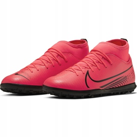 Buty piłkarskie Nike Mercurial Superfly 7 Club Tf Junior AT8156 606 czerwone czerwone 3