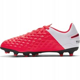 Buty piłkarskie Nike Tiempo Legend 8 Club FG/MG Junior AT5881 606 czerwone czerwone 1