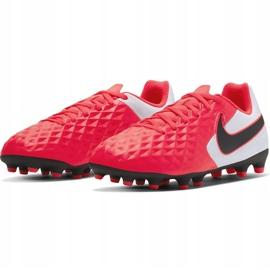 Buty piłkarskie Nike Tiempo Legend 8 Club FG/MG Junior AT5881 606 czerwone czerwone 3
