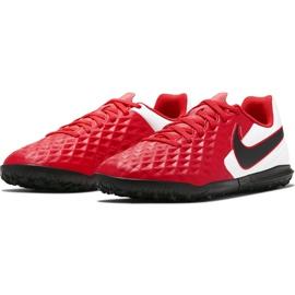 Buty piłkarskie Nike Tiempo Legend 8 Club Tf Junior AT5883 606 czerwone czerwone 3