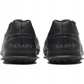 Buty piłkarskie Nike Tiempo Legend 8 Club Tf Junior AT5883 010 czarne czarne 4