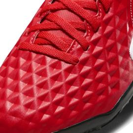 Buty piłkarskie Nike Tiempo Legend 8 Club Tf Junior AT5883 606 czerwone czerwone 5