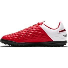 Buty piłkarskie Nike Tiempo Legend 8 Club Tf Junior AT5883 606 czerwone czerwone 2