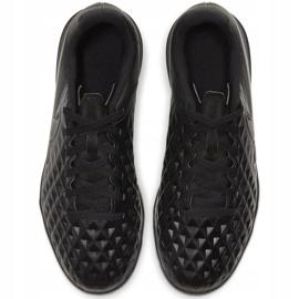 Buty piłkarskie Nike Tiempo Legend 8 Club Tf Junior AT5883 010 czarne czarne 1