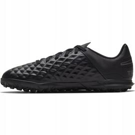 Buty piłkarskie Nike Tiempo Legend 8 Club Tf Junior AT5883 010 czarne czarne 2