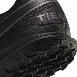 Buty piłkarskie Nike Tiempo Legend 8 Club Tf Junior AT5883 010 czarne czarne 6