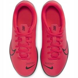 Buty piłkarskie Nike Mercurial Vapor 13 Club Tf Junior AT8177 606 czerwone czerwone 2