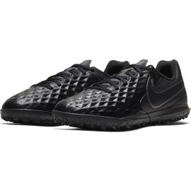 Buty piłkarskie Nike Tiempo Legend 8 Club Tf Junior AT5883 010 czarne czarne 3